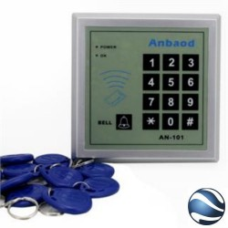 Control De Acceso Para Puerta + 10 Llaveros Proximidad + Pin