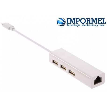 Adaptador Usb C 3.1 A Ethernet Internet Red Macbook Hub