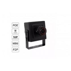 Mini Camara De Red Ip Ojo De Pez Poe Onvif P2p Cctv 960p