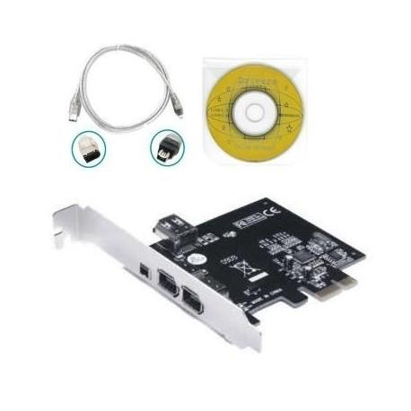 Tarjeta Pci Express X1 De 3+1 Puertos Firewire 1394 + Cable