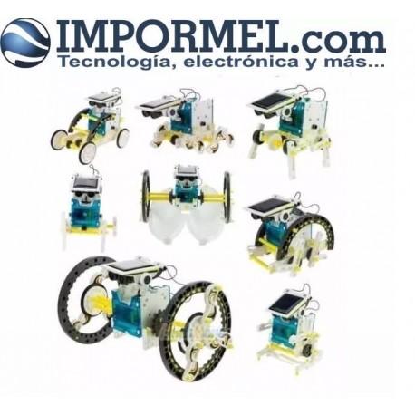 Completo Robot 14 En 1 Solar Educacional
