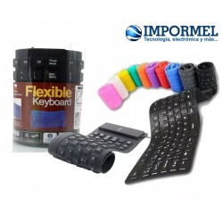 Teclado Flexible De Silicon Usb Alta Calidad Pc Laptop