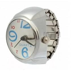 Reloj Mujer Tipo Añillo Plateado Diseño Unico