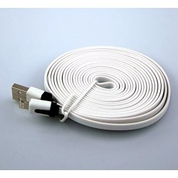 Cable Plano Usb Iphone 5 6 Ipad 4 Carga Y Datos