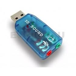 Tarjeta Adaptador Audio Sonido Dj Usb 2.0 3d Pc Laptop Hp Lg
