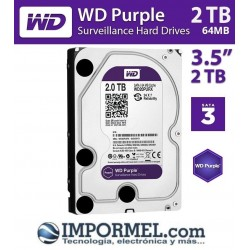 Disco Duro 2tb Western Digital Purple Cctv Camaras Dvr Nvr