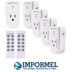 Interruptor 5 Tomacorriente Eléctrico Inalámbrico 2 Control