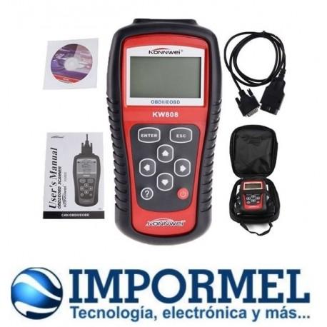 Escaner Automotriz Kw808 Multimarcas Obdii / Eobd Obd2Escaner Automotriz Kw808 Multimarcas Obdii / Eobd Obd2