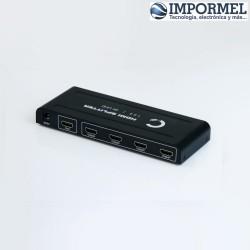Splitter Hdmi 1 X 4 1x4 4k 3d Amplificado Activo Con Fuente