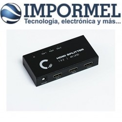 Splitter Hdmi 1 X 2 1x2 4k 3d Amplificado Activo Con Fuente