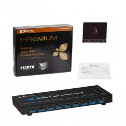 Hdmi Splitter 1x16 1080p 3d V1.3 Full Hd Audio 1080p