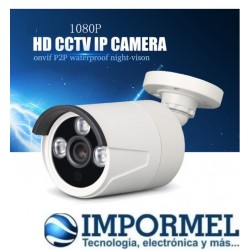 Cámara Bala IP 1080P HD 2.0MP impermeable P2P CCTV ONVIF POE
