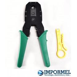 Ponchadora Crimpadora Profesional Cable Red Rj45 Rj11 Utp