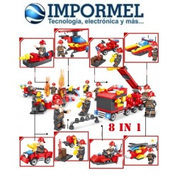 Lego Armable 376 Piezas Bombero Ciudad Helicoptero Niños