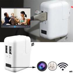 Cargador De Pared Usb 1080p Cámara Espía Oculta Wifi Enchufe