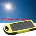 Cargador Solar 5000 Mah Portátil Impermeable Bateria Luz Led