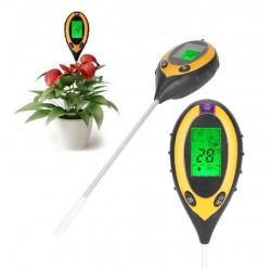 Medidor Ph Humedad Temperatura Luminosidad 4 En 1 Plantas