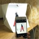 Caja Luz Plegable Fotografía Estudio Fotográfico 40x40 Led