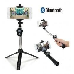 Baston Monopod Selfie Bluetooth Con Trípode Y Control Remoto