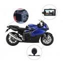 Monitor Con Doble Cámara 2 En 1 Para Moto Pantalla Lcd