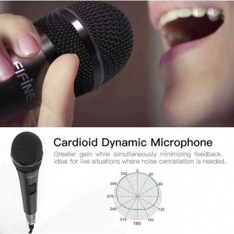 Microfono Profesional Alambrico Fifine K6 5 Metros Cable