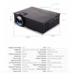 Mini Proyector Unic Uc68 Wifi Full Hd 140¨ 1800 Lumenes