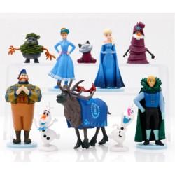 Set De Juguetes De Frozen Muñecos Elsa Ana Olaf Sven Kristof