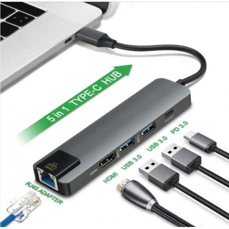 Adaptador Macbook Pro Multiport Usb C A Usb 3 Y Hdmi Lan