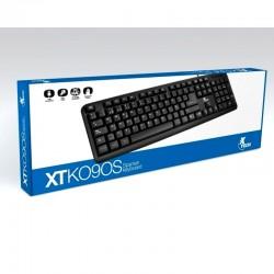 Teclado Xtech Xtk090s Alámbrico Usb Negro Español