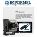 Mini Camara De Red Ip Ojo De Pez Poe Onvif P2p Cctv 1080p