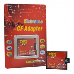 Adaptador convertidor micro SD TF a tarjeta Compact Flash CF MicroSD Micro SDHC