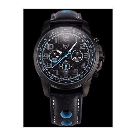 Reloj Original Shark Sh185 Correa Cuero 3 Atm Led Fecha Hora