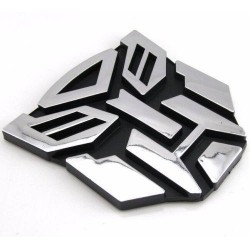 Emblema Logo Transformer Cromado Adhesivo 3m Tuning Plateado
