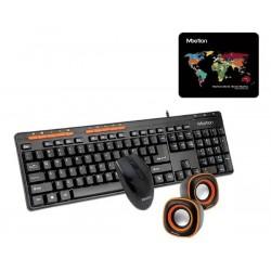 Combo Teclado Mouse Y Parlantes Usb Pc Laptop Meetion C105