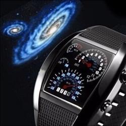 Reloj Digital Hombre Led Deportivo Negro Turbo Resistente