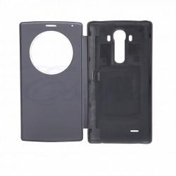 Estuche Flip Cover Lg G4 Cubierta Quickcircle Negro