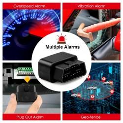 Rastreador Gps Microfono Activado Celular Mv33 Obd2 Alarma