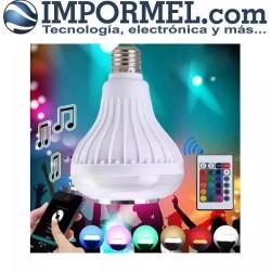 Foco Parlante Bluetooth Luz Led Control Celular