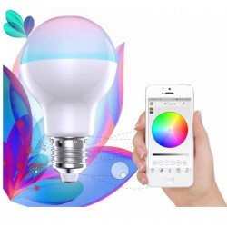 Foco Led Wifi Smart Bulb Rgb 16m Colores Equivale 100w Dimme